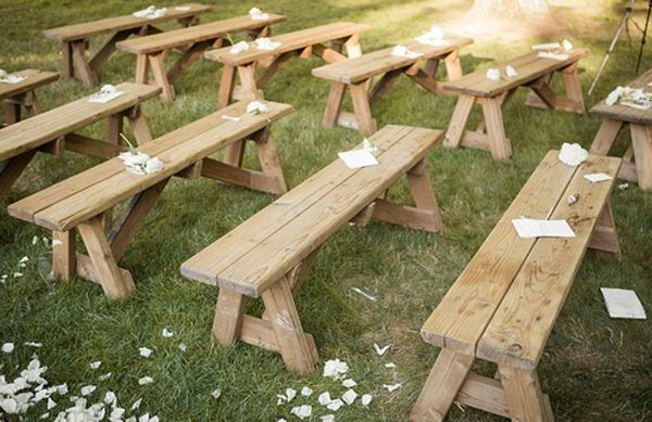 Inexpensive Diy Seating For Outdoor Weddings Outdoor Wedding Seating Ideas Outdoor Wedding Seating Wedding Ceremony Seating Diy Wedding Benches