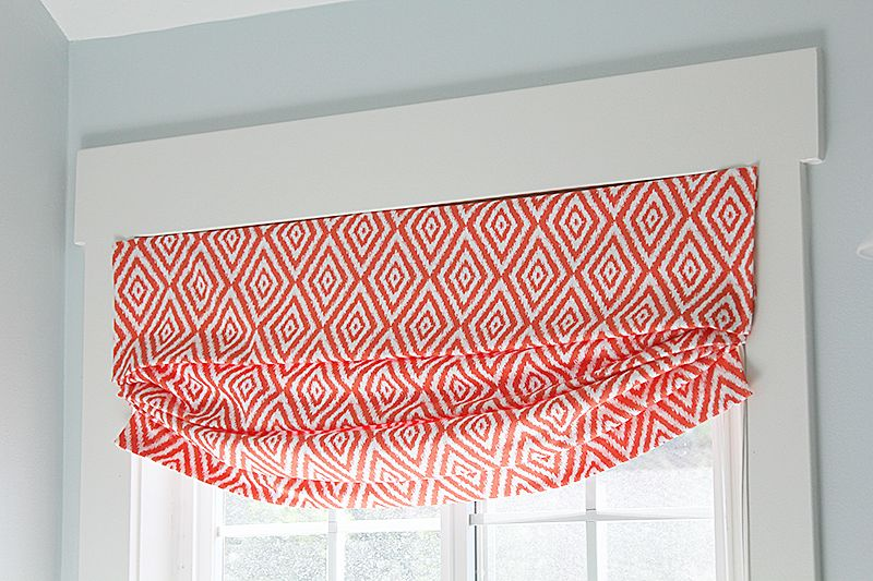 Diy Faux Relaxed Roman Shade The Thumb Tacks To Hold It