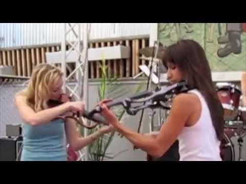 As garotas tocam muito  Rock com violino e bateria  Da ora