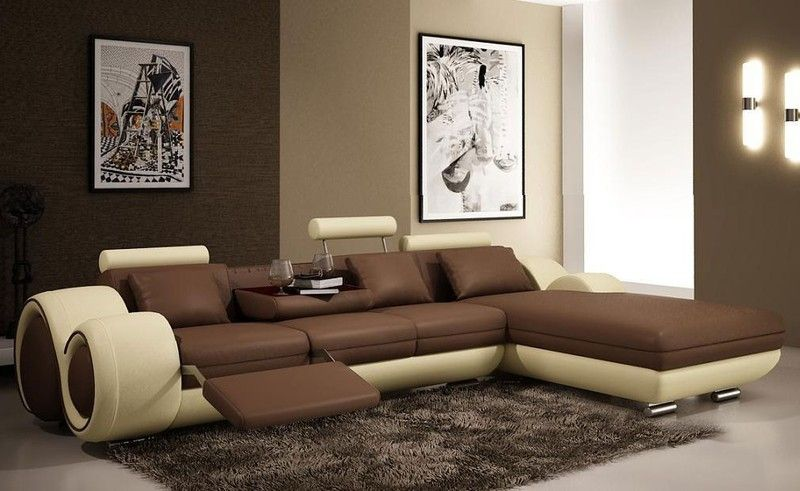 Tosh Tos Lf 4085 Italian Mini Franco Bonded Leather Sectional Sofa Set