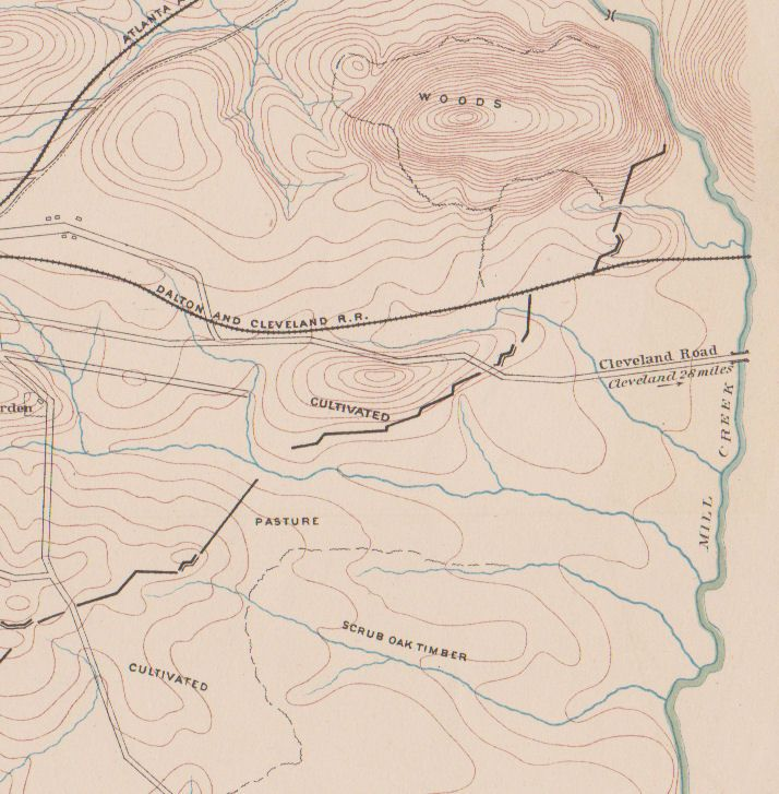 Details About Dalton Georgia 1865 Civil