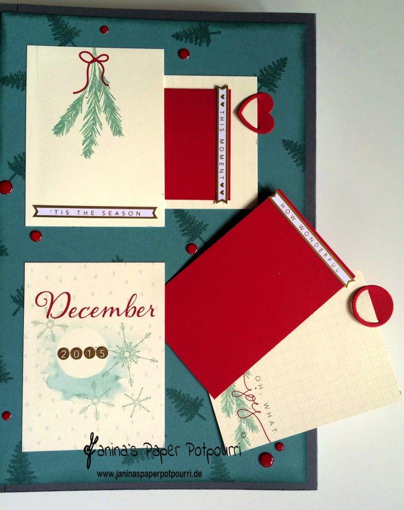 Workshop Rückblick - Project Life Mini Album Winter - Janina's Paper Potpourri