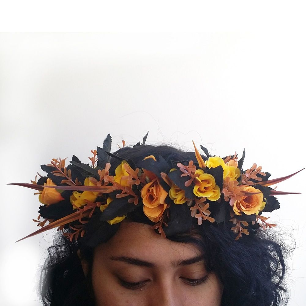 Image of i love ready to wear autumn flower crown iki head an online textile bazaar handmade flower crowns and flower corsages made in melbourne izmirmasajfo Images