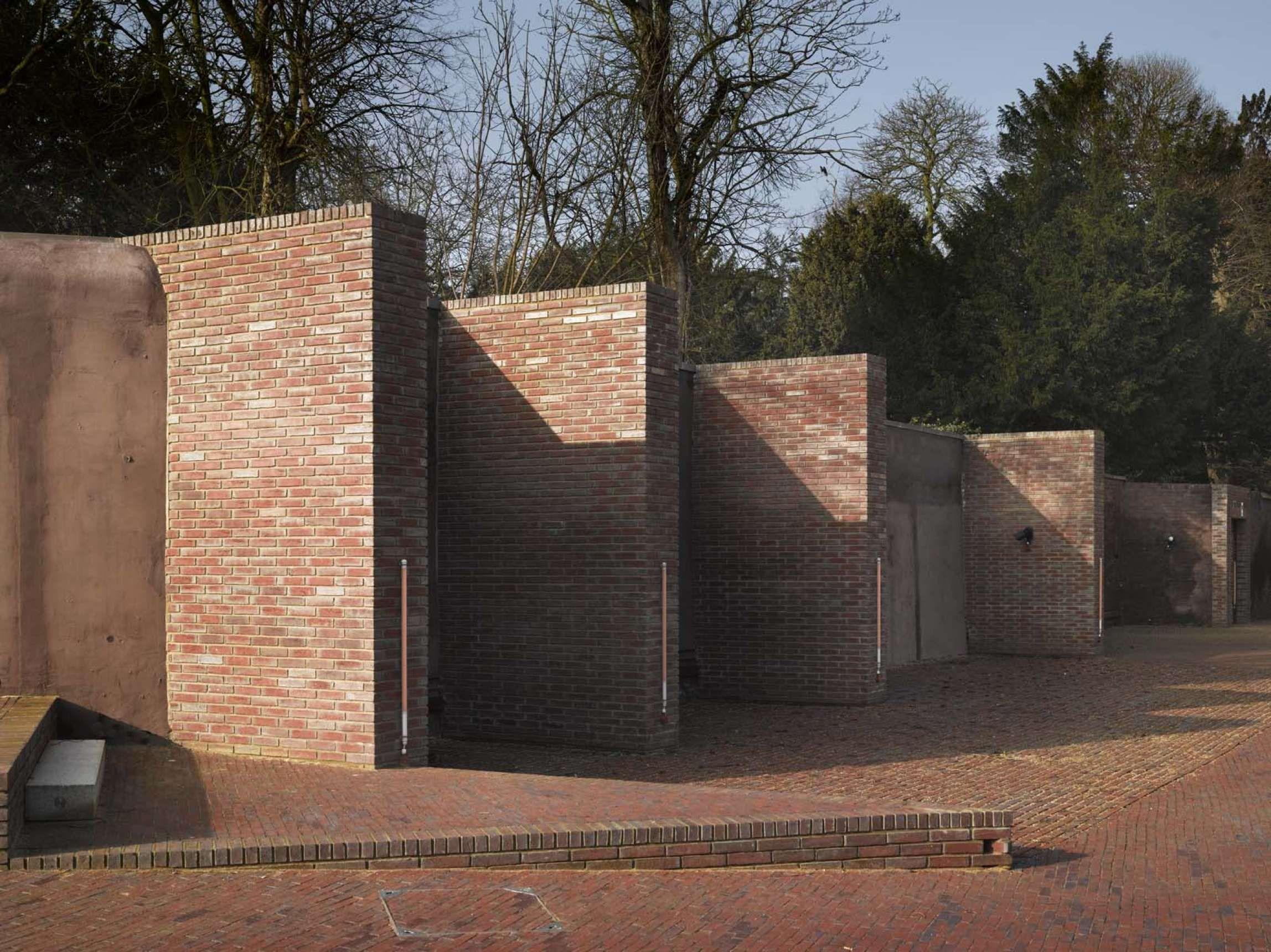 Pin By Robert White On Precedents Education Yard Garden Wall Brick