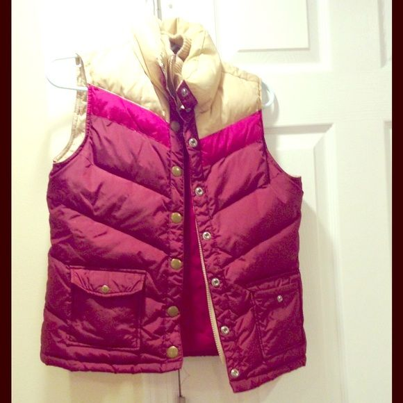 Great puffer vest 35% feather In great condition , size small , very warm, 65% down 35%  waterfowl feather Old Navy Jackets & Coats Puffers