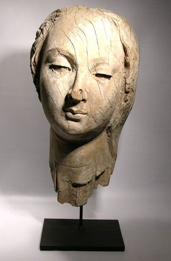 Colonial Bust — Beautiful Latin American Colonial carved wooden bust.