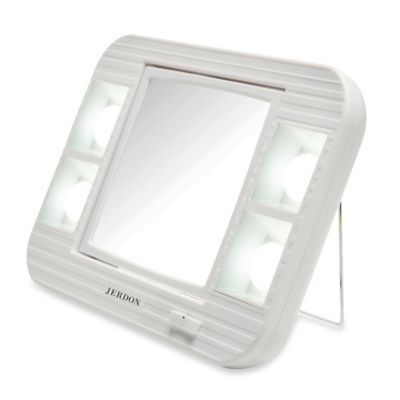 Buy Jerdon 5x 1x Led Lighted Makeup Mirror In White From Bed Bath