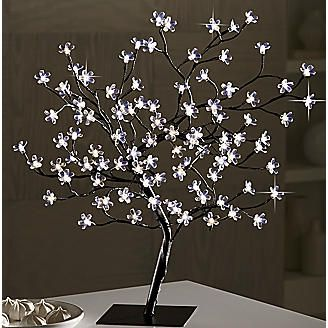 Led Light Bonsai Tree I Love This Anything That Lights Up I Love I Second This Comment Except Of Course Police Light Blossom Trees Led Tree Home Decor