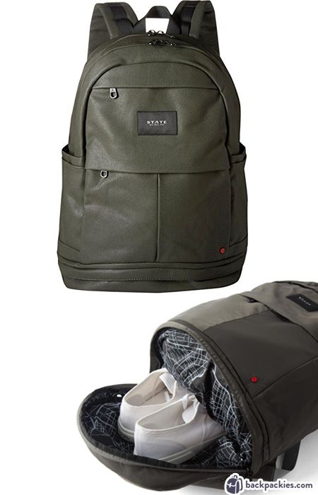 8bb512c34759 Backpack with shoe compartment - Best work to gym bags for men