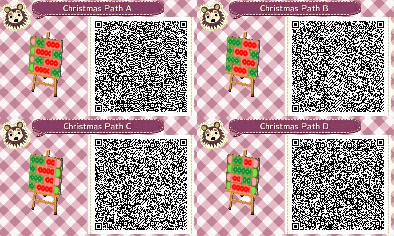 Christmas themed path Animal Crossing:New Leaf QR codes. Based on ...