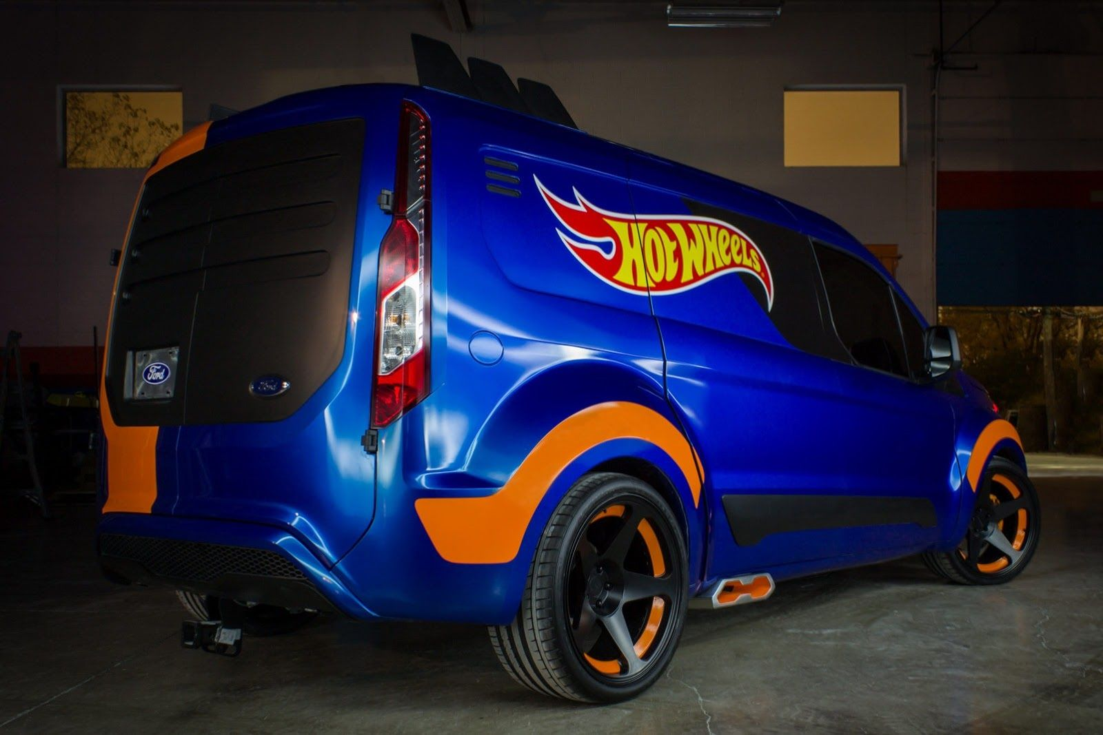 Ford transit connect hot wheels ford revealed at the 2013 sema show a transit connect concept inspired by a hot wheels scale model