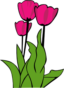 tulips in bloom clip art mixed media good a p or p d rh pinterest co uk