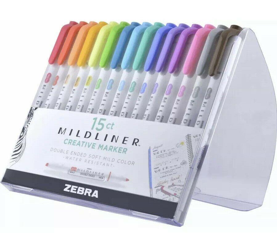 Zebra Mildliner 10 color Double-Sided Highlighter Marker WKT7-10C
