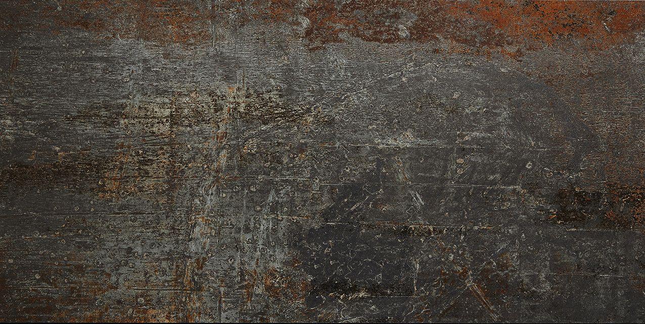 Carrelage aspect m tal en gr s c rame casting iron black - Carrelage aspect metal ...