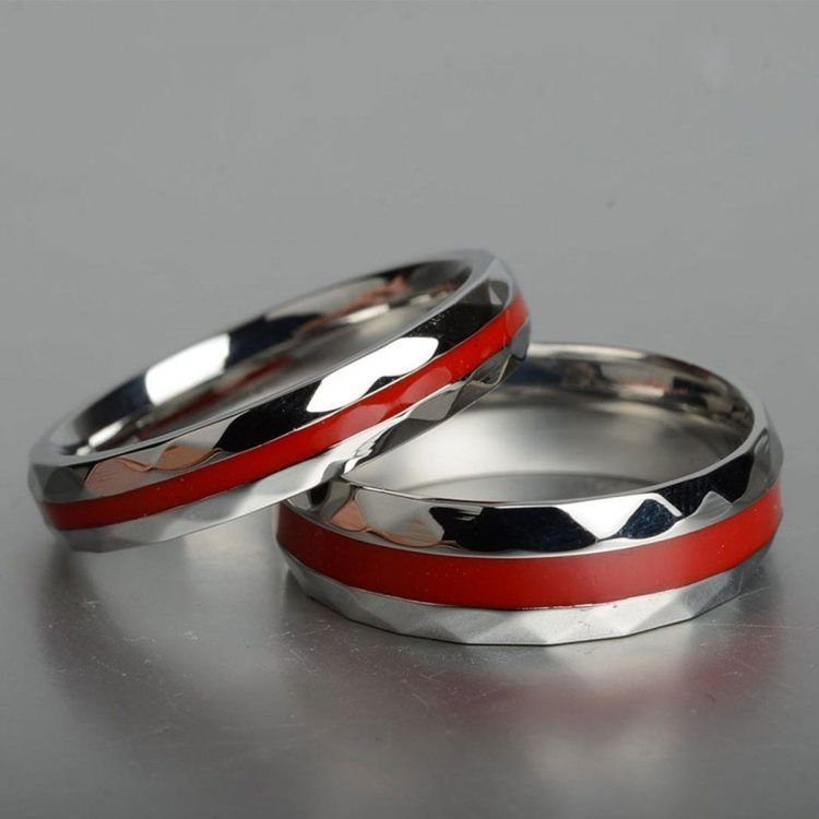 Firefighter Wedding Ring Firefighter Wedding Ring Pillow Wedding Silvery Rings
