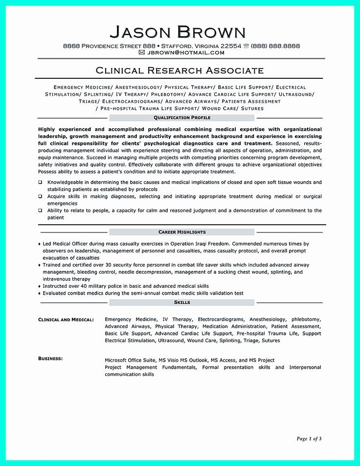 25 Clinical Research associate Resume Resume objective