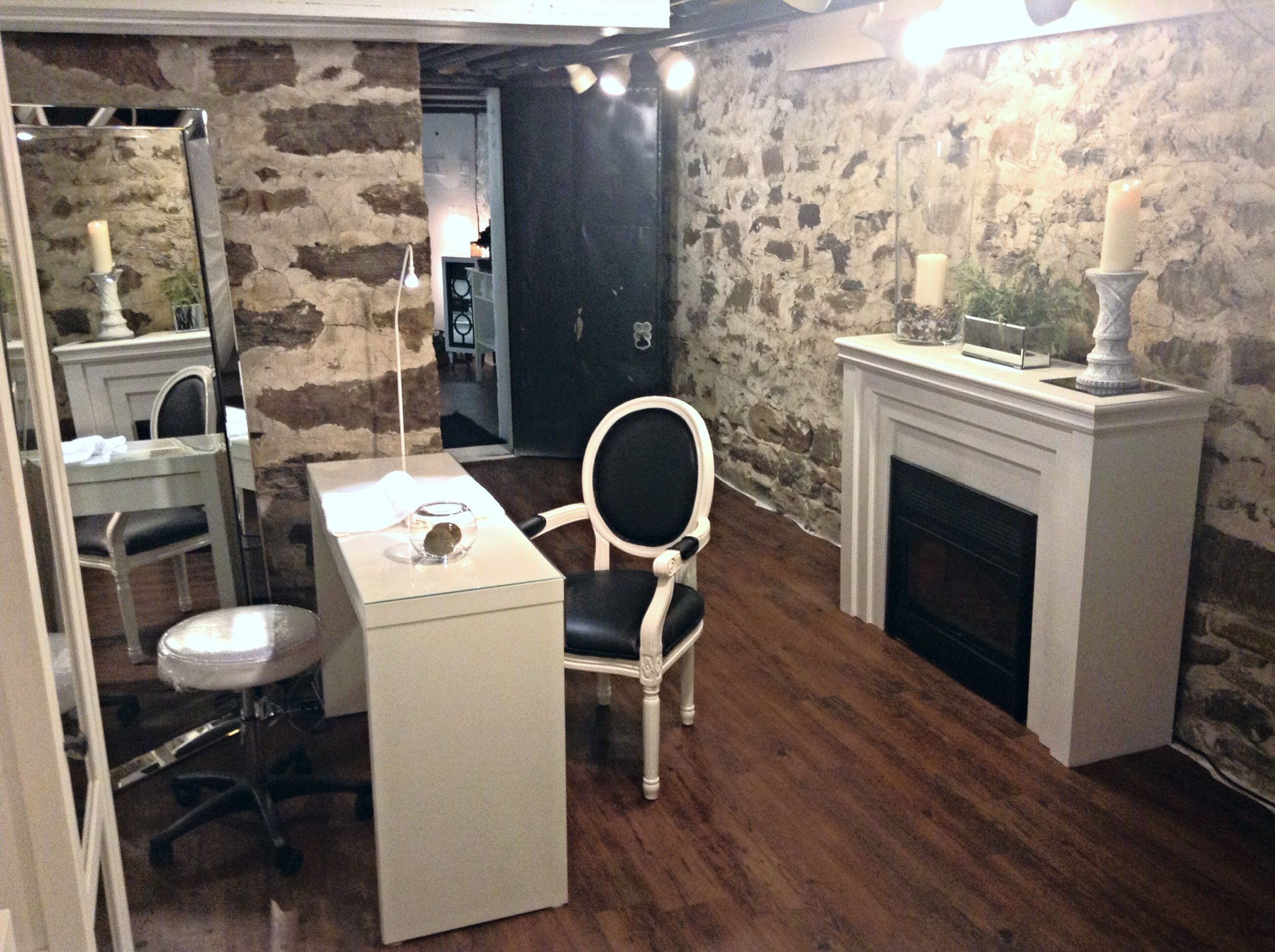 Our Main Spa Area Where Clients Can Sit Back Relax And Enjoy A Professional Manicure And Or Pedicure Home Decor Home Your Space