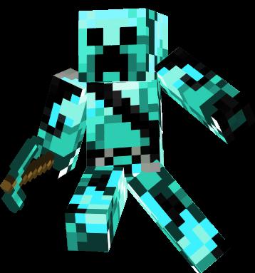 Diamond Creeper New Generation Minecraft Skins Minecraft Skins Cool Minecraft Skins Creeper