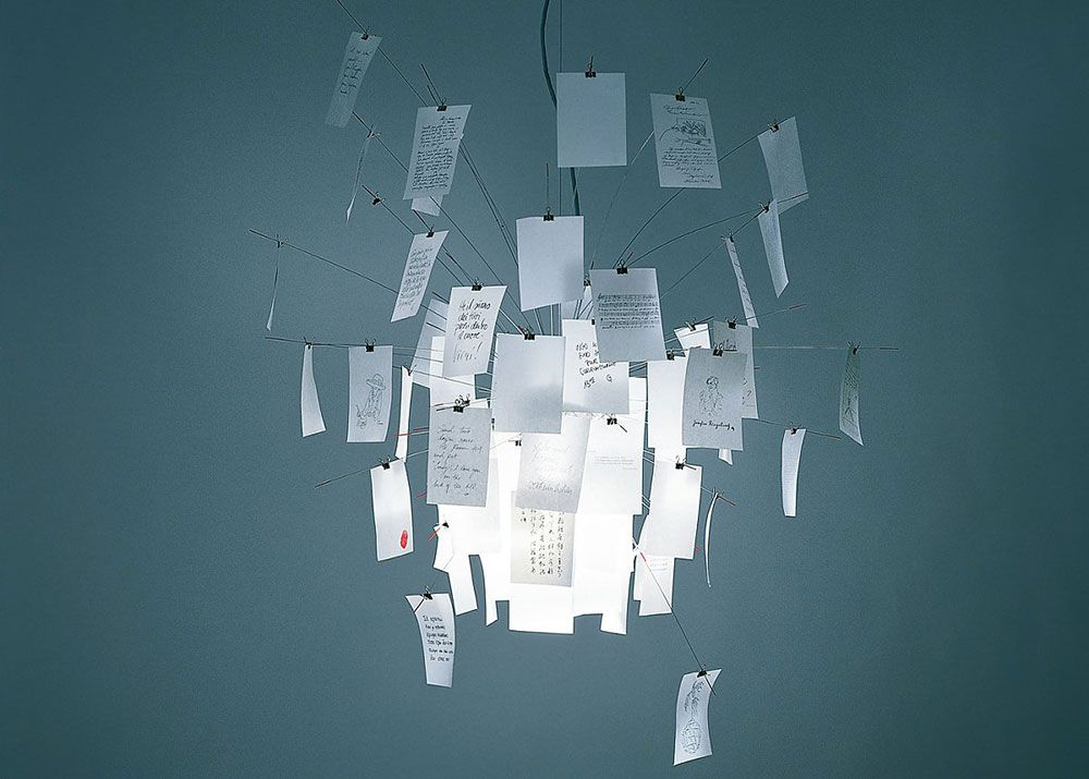Lampade a sospensione: Lampada Zettel\'z 5 da Ingo Maurer ...