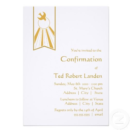Confirmation Invitation Zazzle Co Uk Products I Love