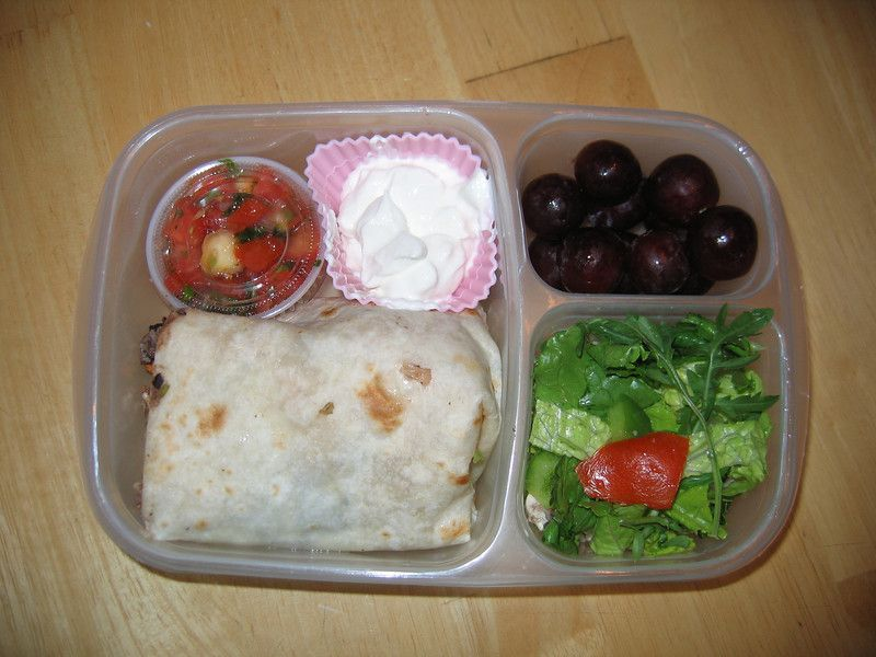 Small Burrito Left Over From Mexican Take Out Dinner Tastes Just As Good For Lunch