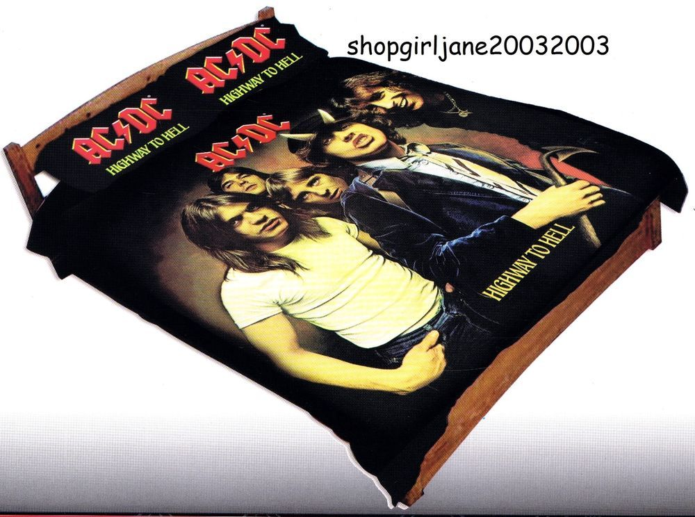 AC//DC Doona Cover Set ACDC Album Cover HIGHWAY TO HELL QUEEN Bed Quilt