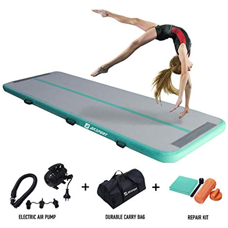 AKSPORT Air Track Gymnastics Tumbling Mat Inflatable Floor