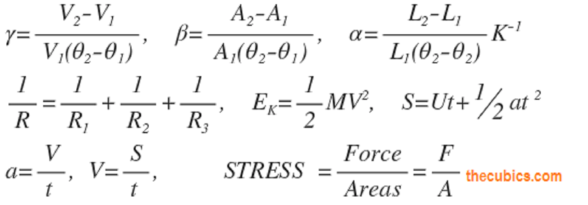 Physics Formulas Book 0ne For Beginner Physics Formulas