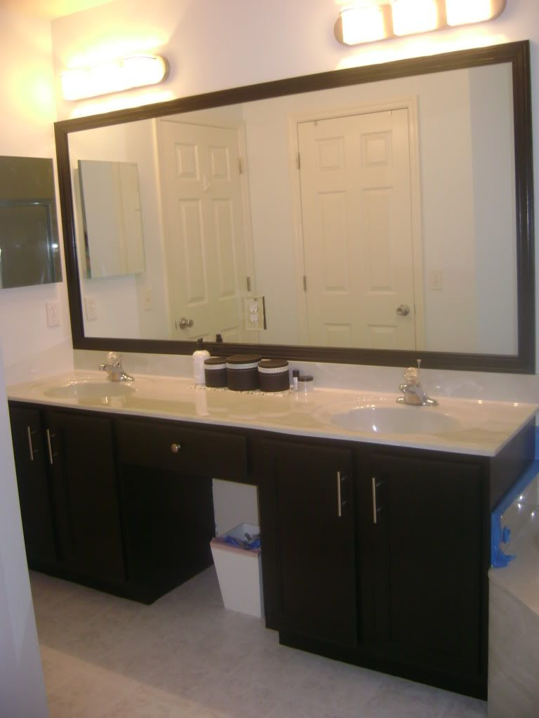 Show Me Your Black Cabinets  Black Cabinet Organizations And Simple Large Bathroom Vanity Mirrors Decorating Design