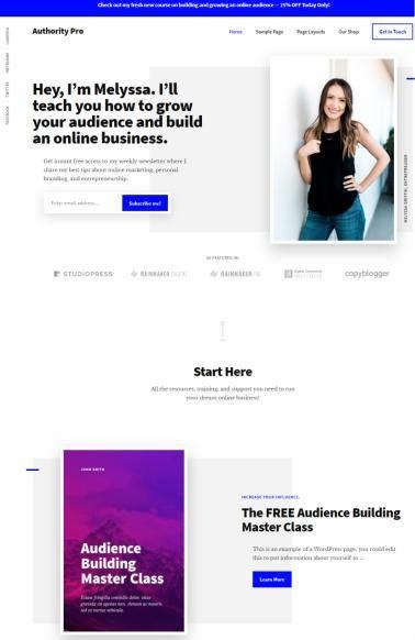 Authority Pro Genesis Business WordPress Theme : StudioPress http ...