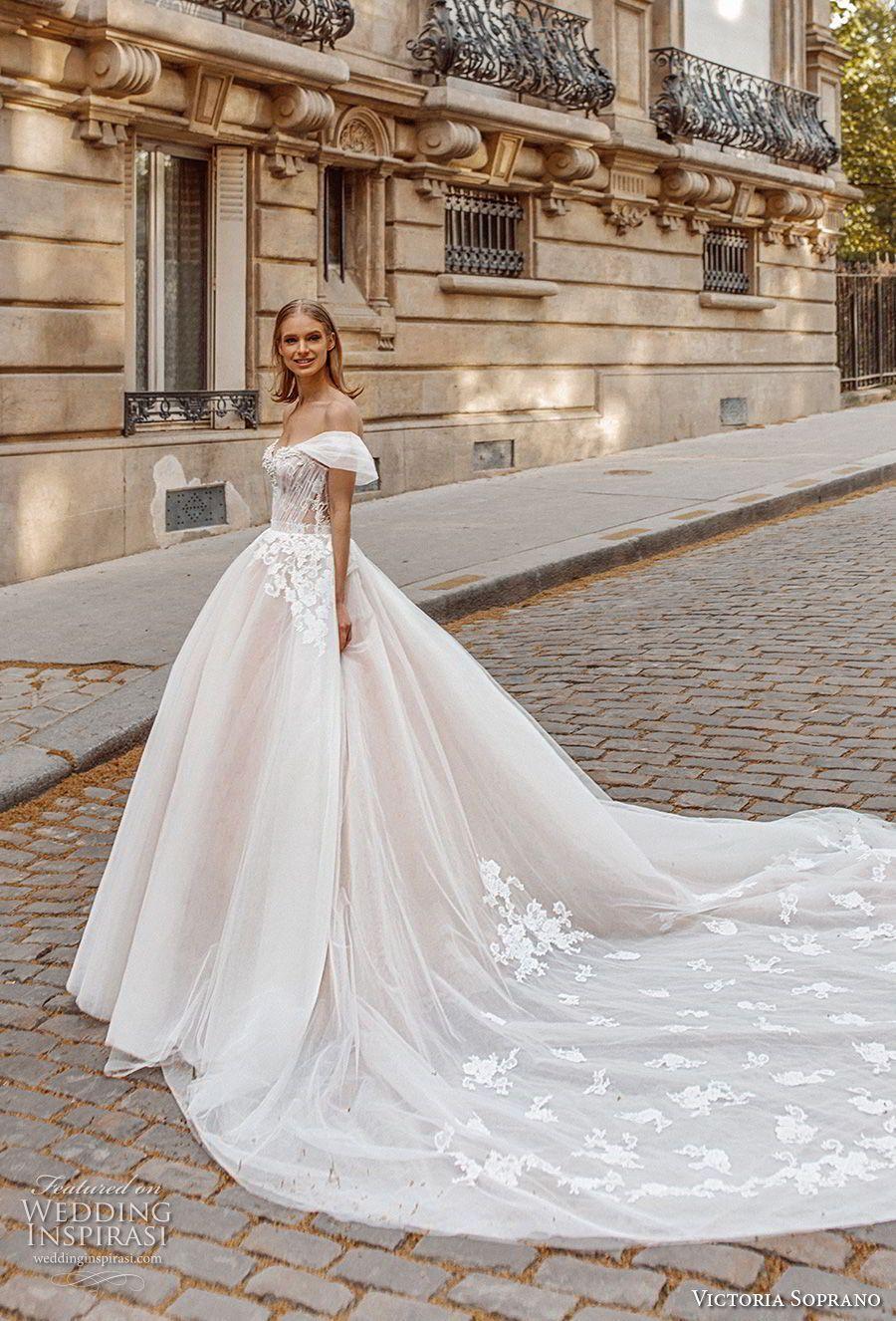 e947312c151 victoria soprano 2019 bridal off the shoulder sweetheart neckline heavily  embellished bodice romantic princess a line