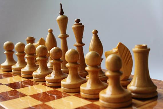 Big Soviet Chess Big Soviet Wooden Chess Set Vintage Tournament