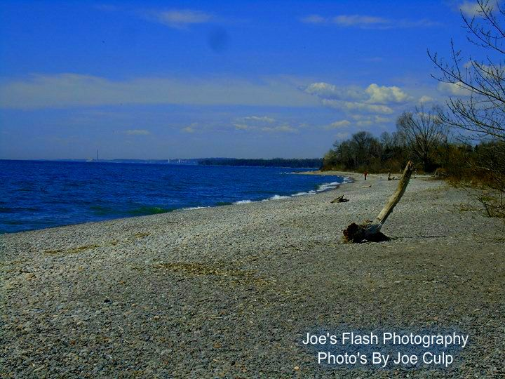 The Picturesque Scenery along the shores of Lake ontario in Cobourg Ontario