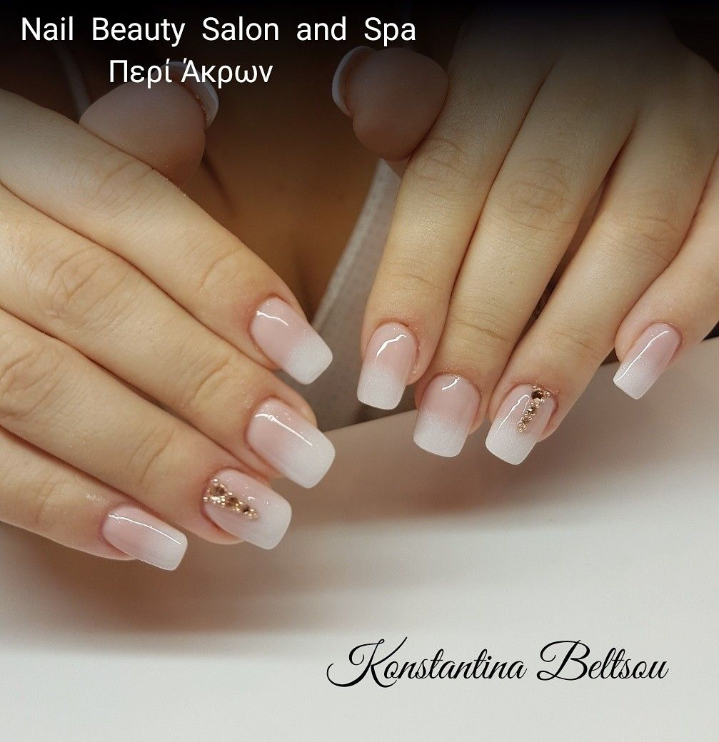 Acrylic Nails Square Oval Shape And Ombre Babyboomer French