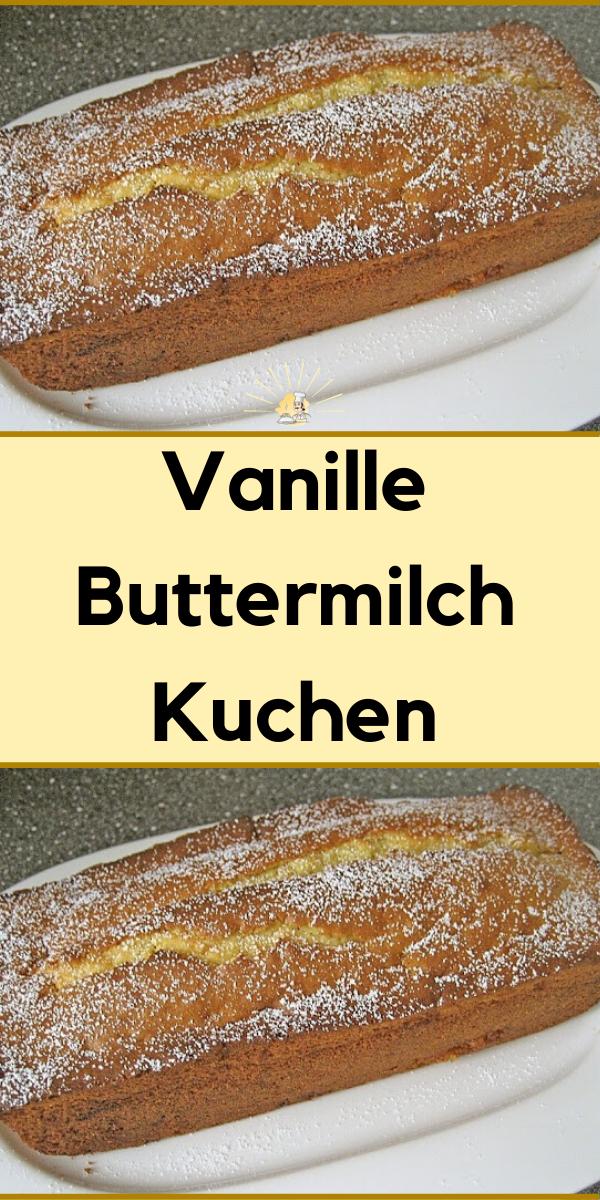 Vanille Buttermilch Kuchen Buttermilchkuchen Kastenkuchen Rezept Apfelpfannkuchen Rezept