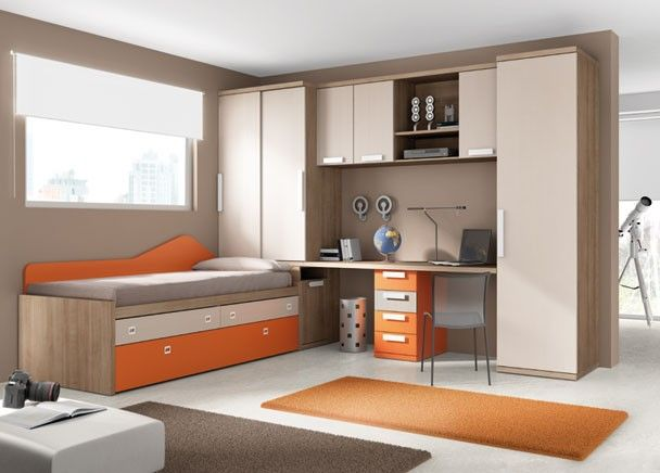 Dormitorio juvenil 002 47 mobiliario juvenil tonos for Habitacion juvenil hombre