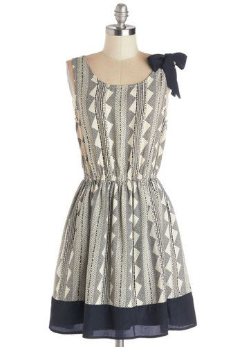 Guiding Delight Dress. When your family comes for a visit, their first request is to be shown around the city you call home.  #modcloth