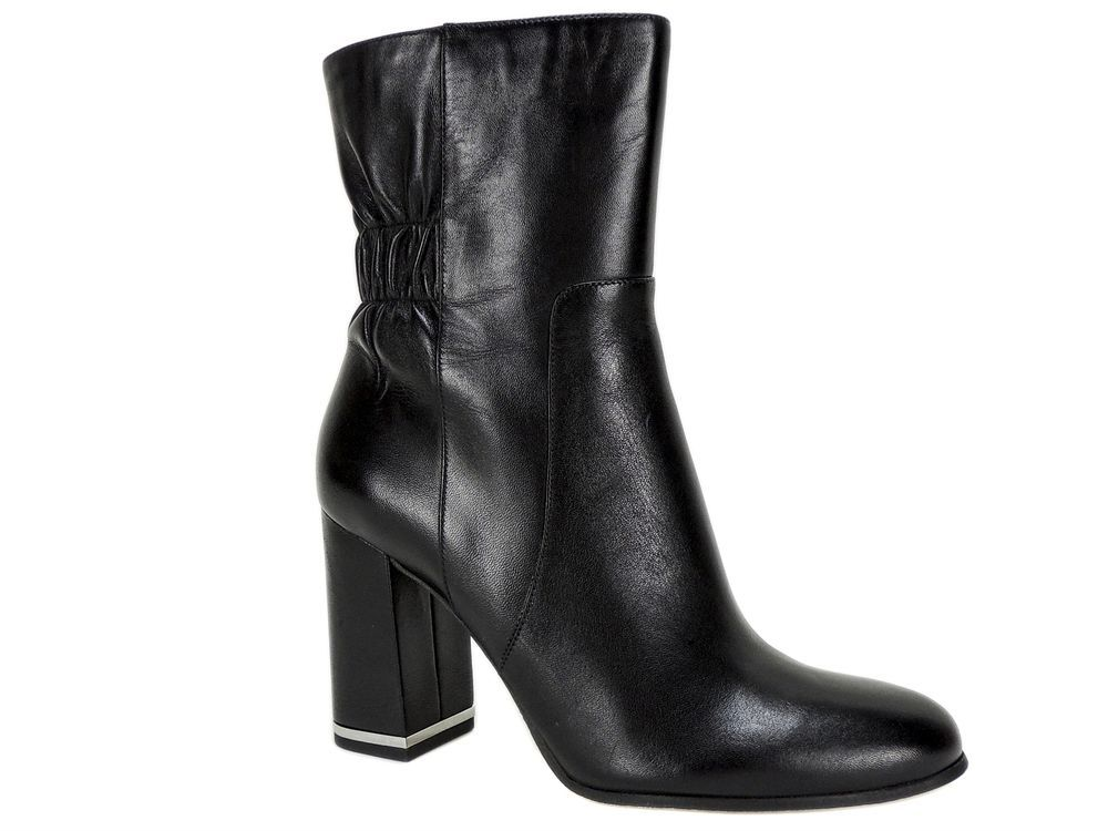 ce2541c6773 Michael Kors Women s Ursula Ankle Boots Black Leather Size 8 M  MichaelKors   AnkleBoots  Dress