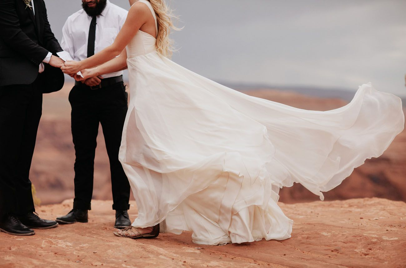 Wedding dress with black shoes  How to Elope in a National Park  Elopements