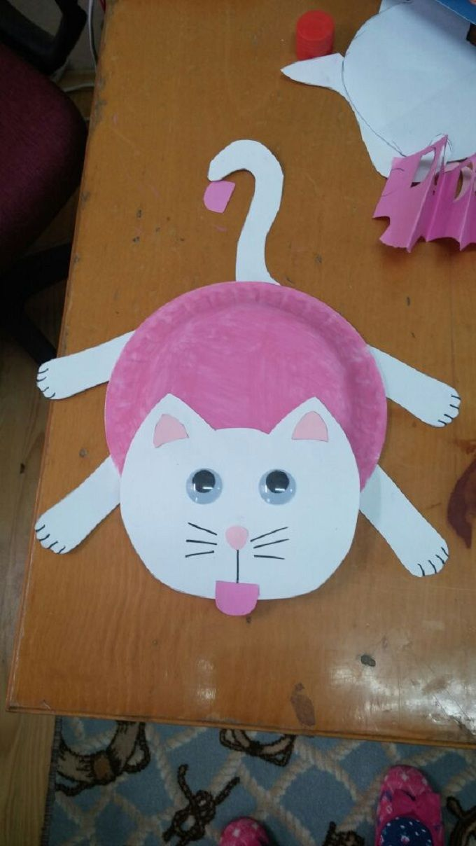 paper plate cat craft & paper plate cat craft | Elefanter | Pinterest | Cat crafts Paper ...