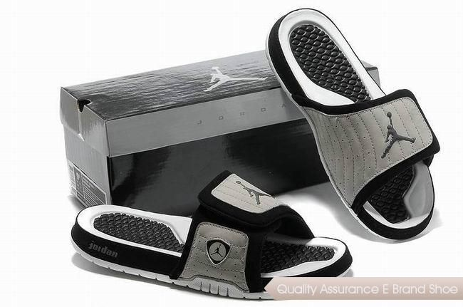 6b57b9f2bd4d nike air jordan 14 retro grey black white hydro slide sandals sneakers p  2494