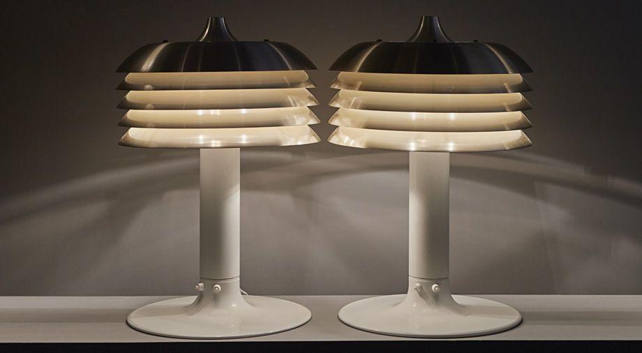 Paire de lampes, Hans-Agne Jakobsson, vers 1970.