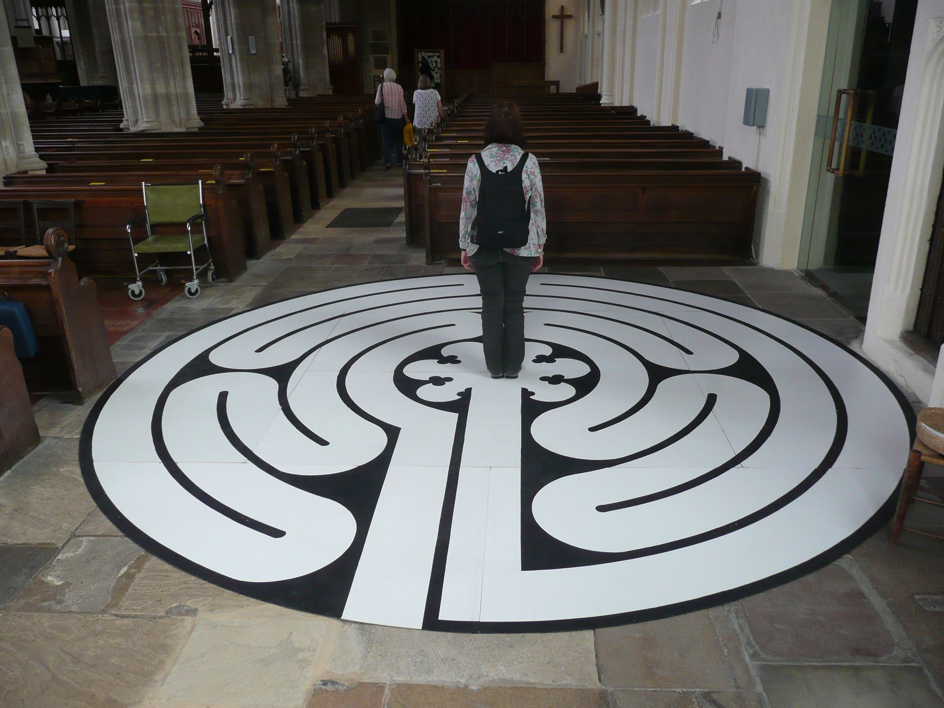 A Small Chartres Labyrinth At The 2011 Saffron Walden Maze Festival Circuit Classical From 5circuit Walking Meditation Labyrinths
