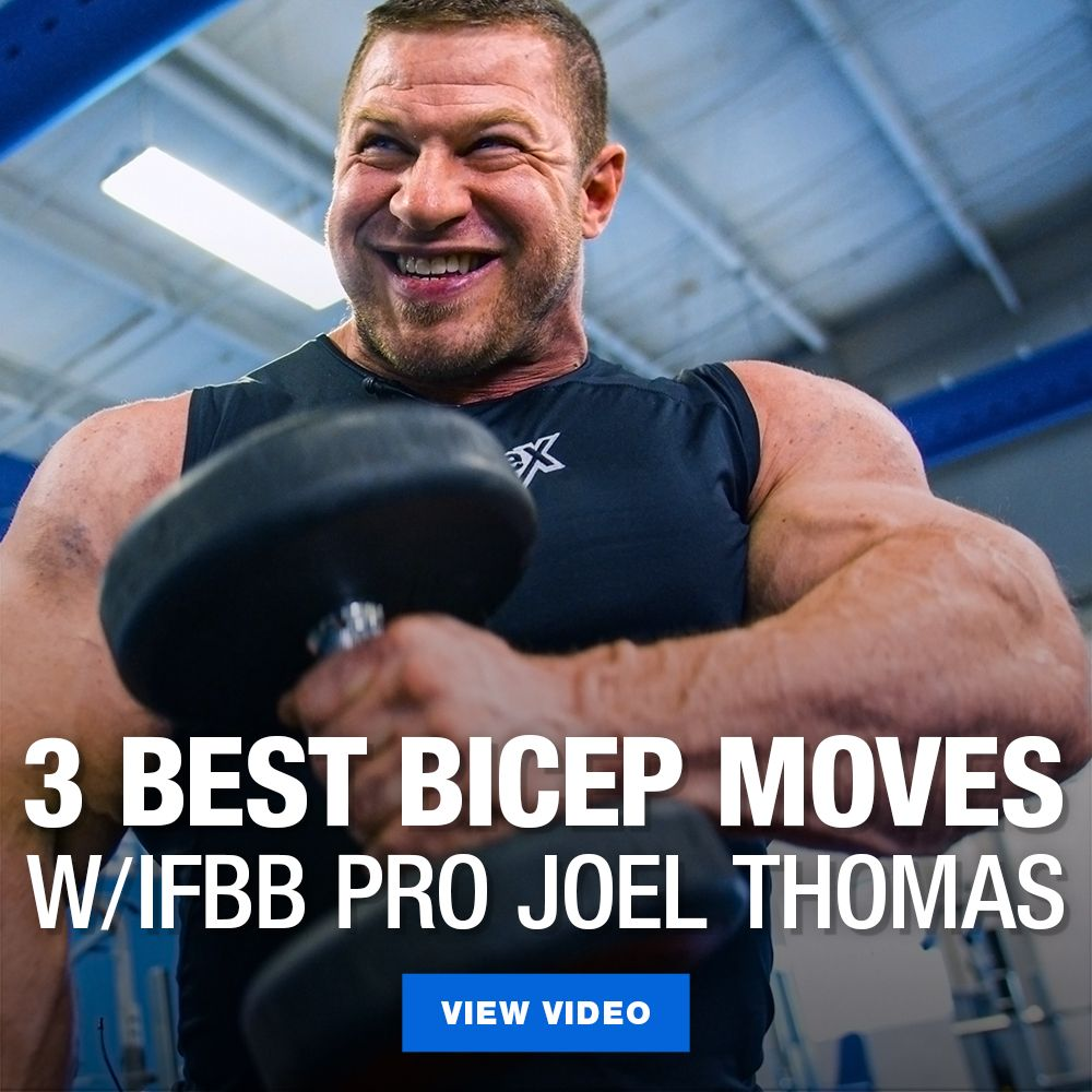 [Video] 3 Best Bicep Exercises for Building Mass w/ Joel Thomas