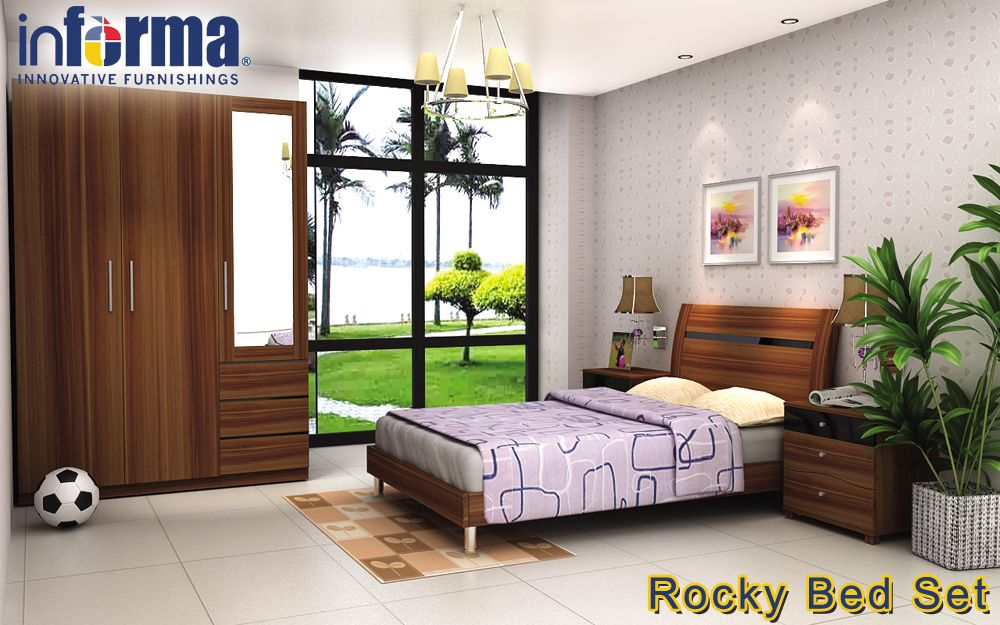 Rocky bed set | informa.co.id | Informa Bedrooms | Pinterest | Bed sets
