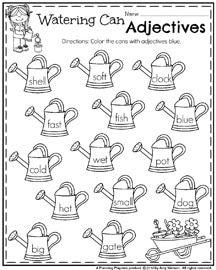 Worksheet Adjectives Worksheet For First Grade may first grade worksheets for spring language arts adjectives worksheet may