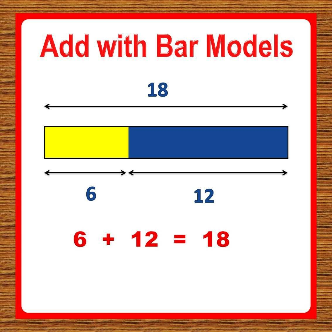hight resolution of Teach child addition math fact using Bar Models. Singapore Math worksheets.    1st grade math worksheets