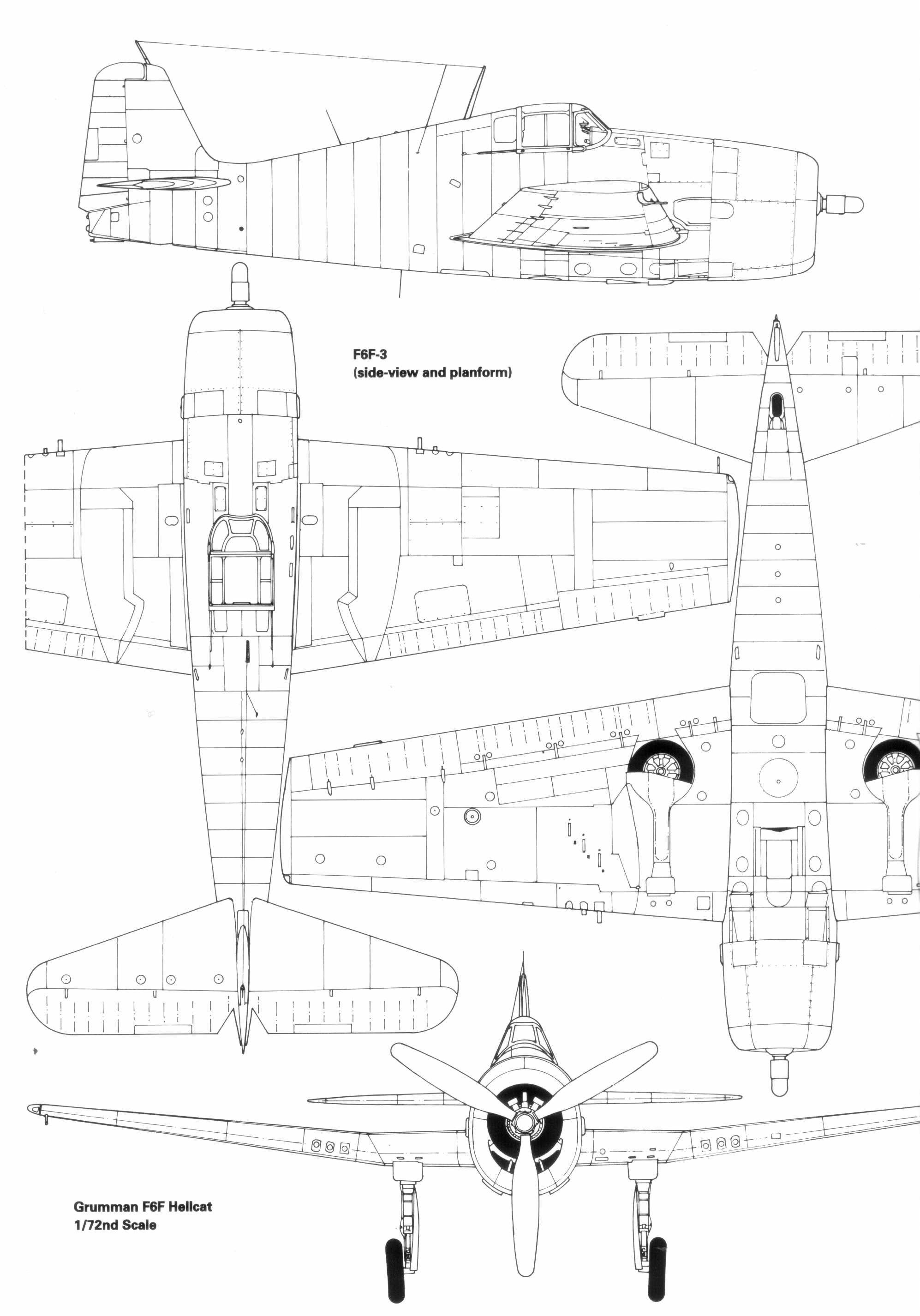 Grumman F6f Hellcat Blueprint
