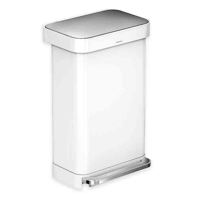 Best Simplehuman® 45 Liter Rectangular Liner Rim Step Trash Can 400 x 300