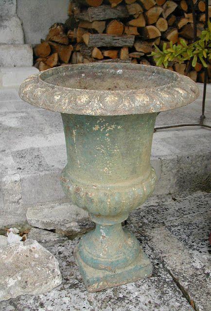 La Pouyette My Favorite Brocante Finds Garden Urns Brocante Antique Cast Iron